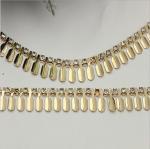 Buy cheap Custom ladies handbag diamond hardware gold metal chain for handle bag from wholesalers