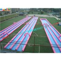 Buy cheap 400m Three Lane Splash Outdoor Inflatable Water Slides  for Crazy Custom from wholesalers