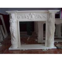 Quality Carved stone figure statue fireplace,decorative indoor stone fireplace,fireplace statue for sale