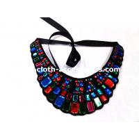 Wholesale Rectangle And Round Beaded Neck Trim Felt Fabric For Navy Blue Shift Dress from china suppliers
