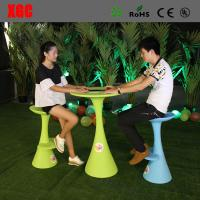 China Lightweight Cocktail Table Plastic Garden Furniture Sets With 8 Colors Available on sale