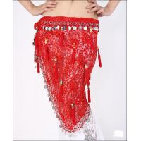 Attractive Red Lace Belly Dancing Hip Scarves In Performance / Practice Wear Manufactures