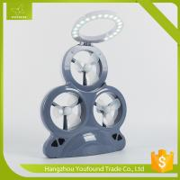 AX-3MF Plastic Mini Fan with LED Light 3 Mini Fans Rechargeable Solar Chargeable Mini Fan Manufactures