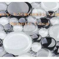 Buy cheap Black White Round Mosaic Tile product