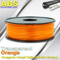 Buy cheap ABS Desktop 3D Printer Plastic Filament Materials Used In 3D Printing Trans Orange from wholesalers