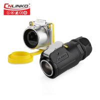 Buy cheap Black Plastic Quick Locking Outdoor Cat6 Rj45 Connectors Ethernet Port  Internet Supply from wholesalers