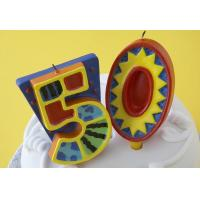 Buy cheap 100% Handmade 50th Number Birthday Candles With Colorful Paintings No Virus from wholesalers