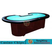 Buy cheap Baccarat Standard Casino Poker Table / 80 Inch Large Poker TableFor 9 Players from wholesalers