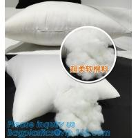 Buy cheap Square custom wholesale pillow insert,white square vacuum package pillow cushion inserts,PP cototon wholesale pillow cus from wholesalers