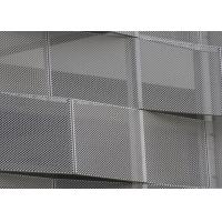 Wholesale Corrosion Resistance Decorative Perforated Metal , Decorative Sheet Metal Panels Kinetic Facade Waves from china suppliers