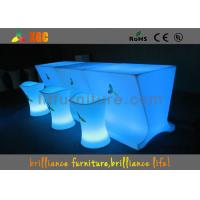 Buy cheap Waterproof Glowing LED bar counter with rgb light Outdoor Furniture from wholesalers