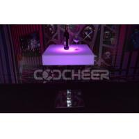 Buy cheap Eco-friendly  Square Led Bar Table / led pub table with Stainless Steel Stand from wholesalers