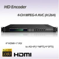 Buy cheap 4*HDMI TO ASI&IP MPEG-4 AVC/H.264 AAC Audio Encoding REH2204 from wholesalers