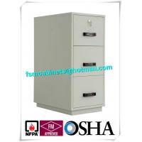 Buy cheap Steel 3 Drawer Fireproof Safety Cabinet , Fire Resistant File Cabinet For Paper Documents from wholesalers