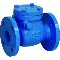 Wholesale Cast Ductile Iron FF BC Swing Check Valve with 250 PSI Working Pressure ISO 9001 / API 6D from china suppliers