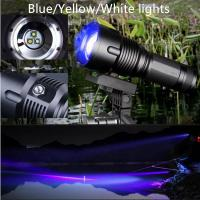 Factory Price 5W night fishing/hunting Rechargeable CREE Q5 White/Yellow/Blue Adjustable Focus Zoom LED Torch Manufactures
