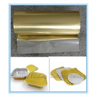Buy cheap golden aluminum foil with pp film  for food container  n lids from wholesalers