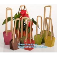 Buy cheap Paper Bag Manufacturer OEM Best Quality CMYK Colored Kraft Paper Gift Bag Flower Carrier Bags,customized flower carrier from wholesalers