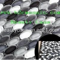 Wholesale Oval Glass Mosaic Tile Black and White with Mech from china suppliers