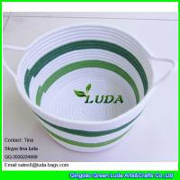 Buy cheap LUDA fabric cotton cord woven baskets striped storage bin in home from wholesalers