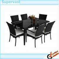 Buy cheap Modern Wicker Conversation Set 7 PC Resin Wicker Patio Dining Table and Chairs from wholesalers