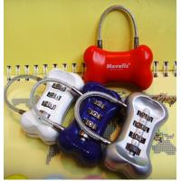 Wholesale 3 digit Combination Padlock Bone Shape coded Lock Password Padlocks CR-016 from china suppliers