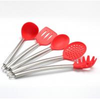 Buy cheap 5 pcs sets silicone kitchen tool  sets with stainless steel handle from wholesalers