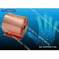 Buy cheap RA Pure Copper Foil With Good Mechanical Performance for Electronic Components from wholesalers