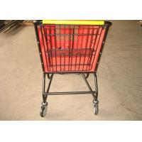 Buy cheap Eco - Friendly Rolling Plastic Shopping Basket Cart 100L 120L 160L 180L from wholesalers
