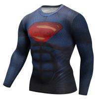 Buy cheap Superman 3D Printed Mens Long Sleeve Sports Top Quick Delivery 2 - 4 Days from wholesalers