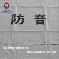 Buy cheap PVC Sound Barrier Sheet fireproof mesh tent tarpaulin fabric construction fence from wholesalers