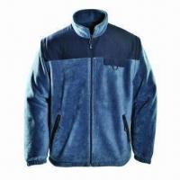 Buy cheap Fleece Jacket for Men, Anti-pilling fleece with Patch on Shoulder, Detachable Sleeves from wholesalers