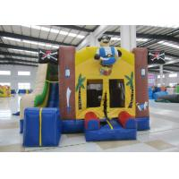 Buy cheap Classic inflatable pirate themed combo for sale PVC standard size inflatable pirate bouncy with slide for kids under 15 from wholesalers