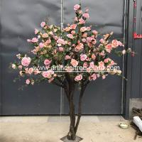Buy cheap Contom Interior Artificial Rose Flower Tree For Wedding Home Decoration product