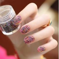 Buy cheap Nail Art Colored Micro Glass Beads / 8MM Small Glass Beads from wholesalers
