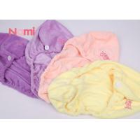 Buy cheap Bath Twist Hair Drying Towel Cap Comfortable Touch Good Water Absorption from wholesalers