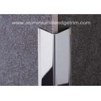 Buy cheap Polished Stainless Steel Tile Trim / Angle Trim , Stainless Tile Edge Trim 20mm X 20mm X 2.44m product