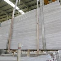 Wholesale Natural white wooden marble cut to size Chinese white serpeggiante veins tiles slabs white wooden marble from china suppliers