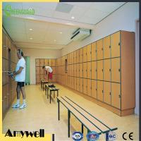 Buy cheap Amywell Good price oak wood 3 tiers phenolic resin HPL lockers from wholesalers