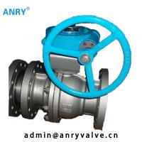 Buy cheap A105+ENP Fixed Ball Valve Casted Steel 150~1500  WCB  Ball Valve Flange Ends from wholesalers