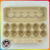 Buy cheap Post Consumer Molded 12 Up Pulp Disposable Paper Egg Trays from wholesalers