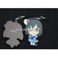 Wholesale Japanese anime pvc rubber pendants custom for phone bag keychains from china suppliers