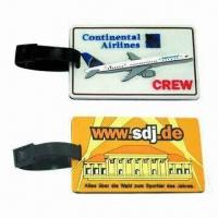 Wholesale 105x63x4mm 3D Level Promotional Sports PVC Luggage Tags with Paper Name Card, Your Labels Welcomed from china suppliers