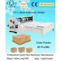 Buy cheap Mechanical Slotting Carton Folding And Gluing Machine For Paper Dividing Line from wholesalers