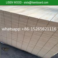Buy cheap V Slotted Radiata T11 Pine Plywood For Funiture,  12mm 15mm pinus sylvestris Pine Plywood from wholesalers