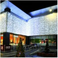 Buy cheap 6m 750LED white Christmas LED icicle light for hotel outdoor wall decor from wholesalers