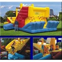 China 0.55mm PVC Tarpaulin Inflatable Obstacle Courses with Slide and Climbing Wall YHOB-005 on sale