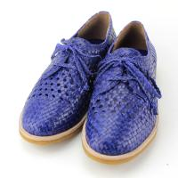 2015 hot selling new fashionable leather woven hand sewn shoes mark flat women shoes Manufactures