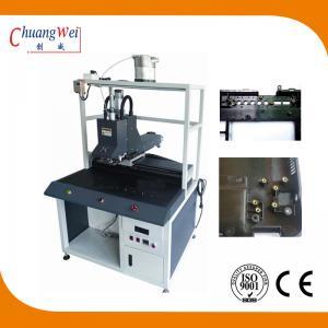 Non - Blocking Nut Crashing Chute Screw Tightening Machine With 0.01mm Precision Manufactures