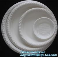 Buy cheap Eco friendly biodegradable sugarcane bagasse tableware sets disposable paper pulp plate 6 inch round disc bagease packag from wholesalers